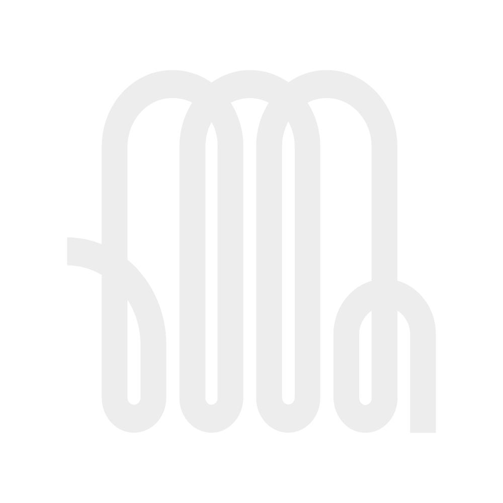 Milano Alpha - Black Horizontal Single Slim Panel Designer Radiator 635mm x 840mm