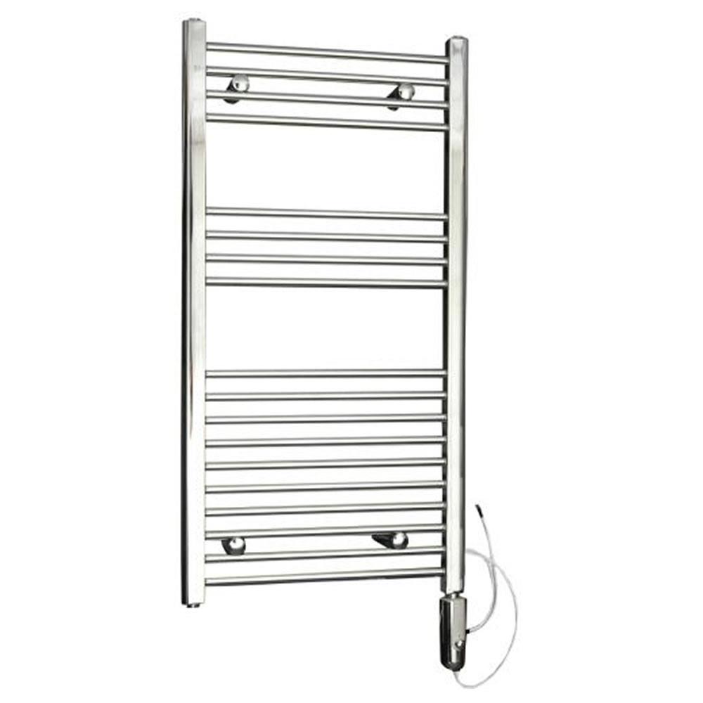Kudox Flat Electric Towel Radiator: Chrome Flat Thermostatic Electric Towel Rail