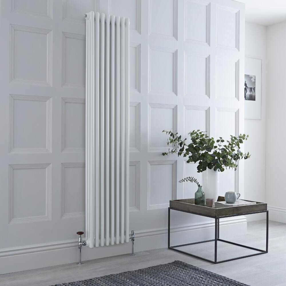 Milano Windsor - Traditional White 3 Column Radiator 1800mm x 383mm (Vertical)