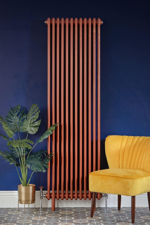 vertical copper milano windsor radiator