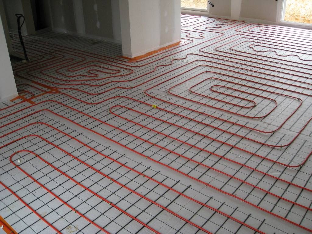Underfloor heating for conservatory