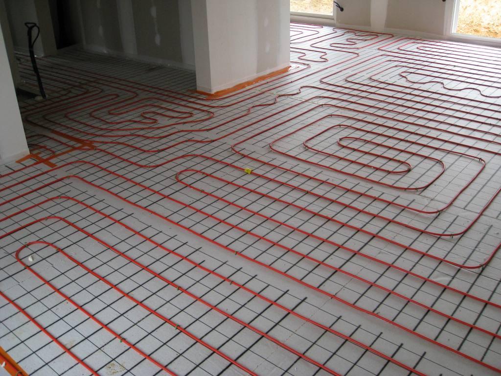 Underfloor heating for conservatory