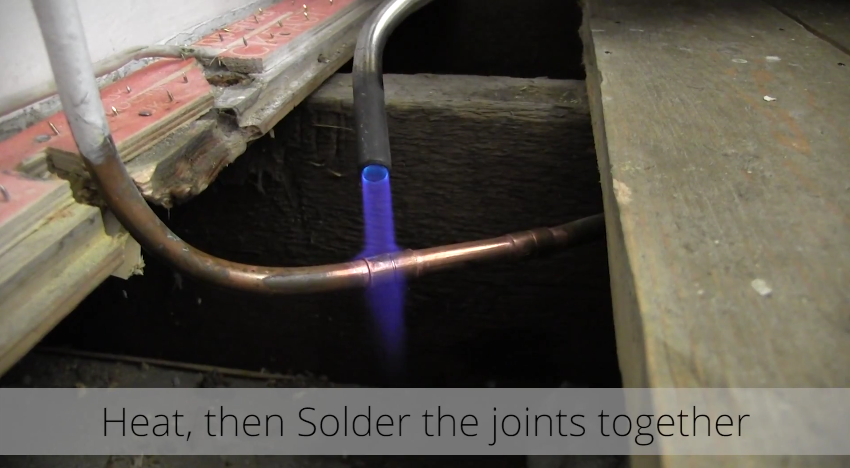 How to Install a Radiator_26_Heat and Solder the Joint