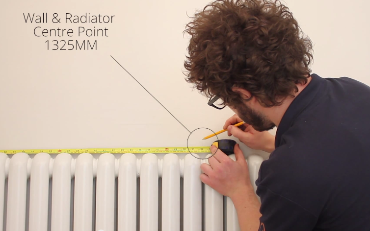 How to Install a Radiator_6_Centre Point of the Radiator and Wall