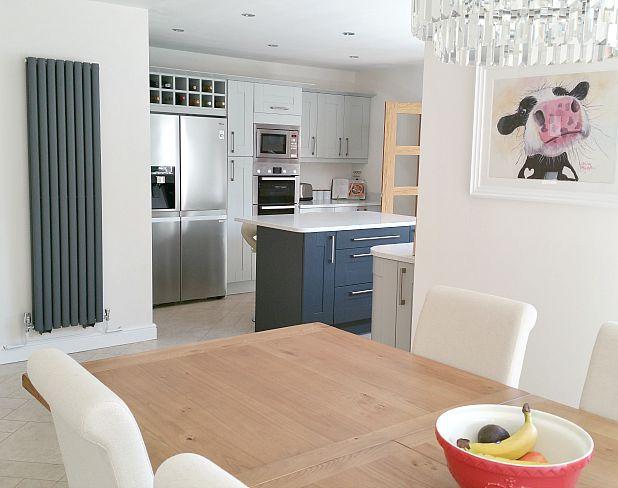 Double panelled aruba radiator in a kitchen