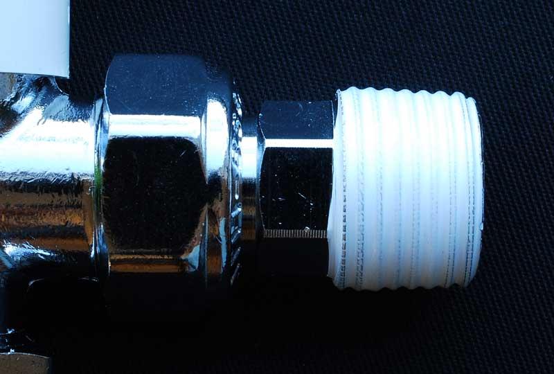 PTFE tape on male radiator valve