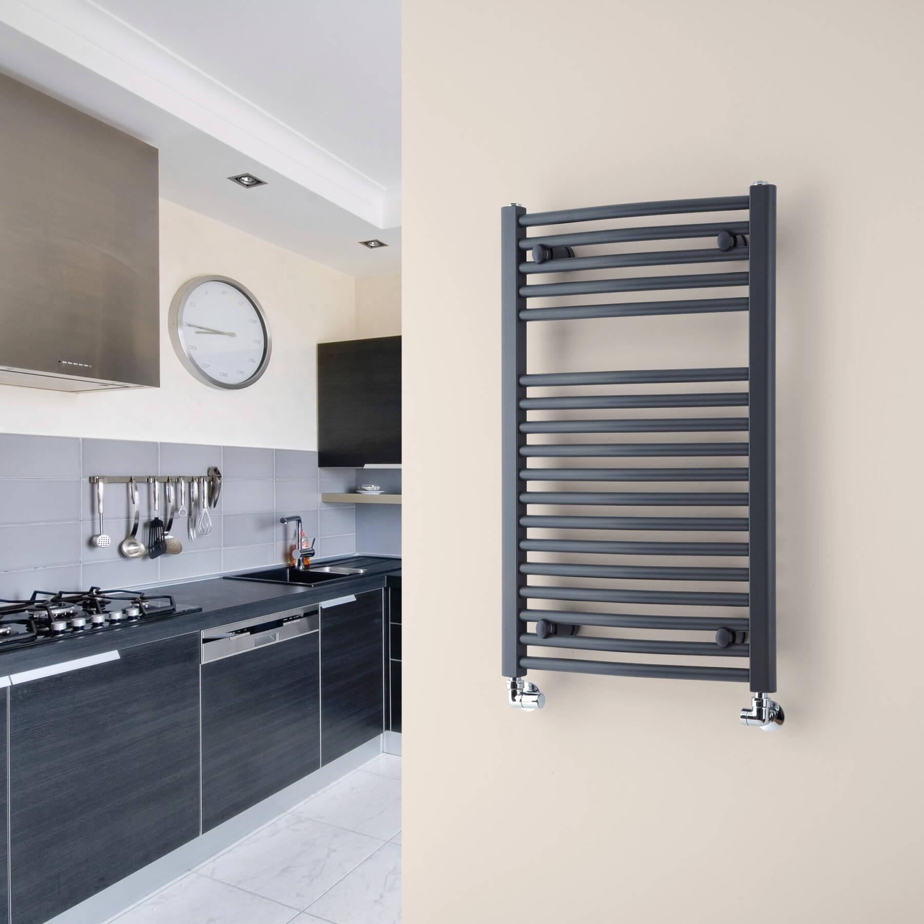 Towel warming kitchen radiator
