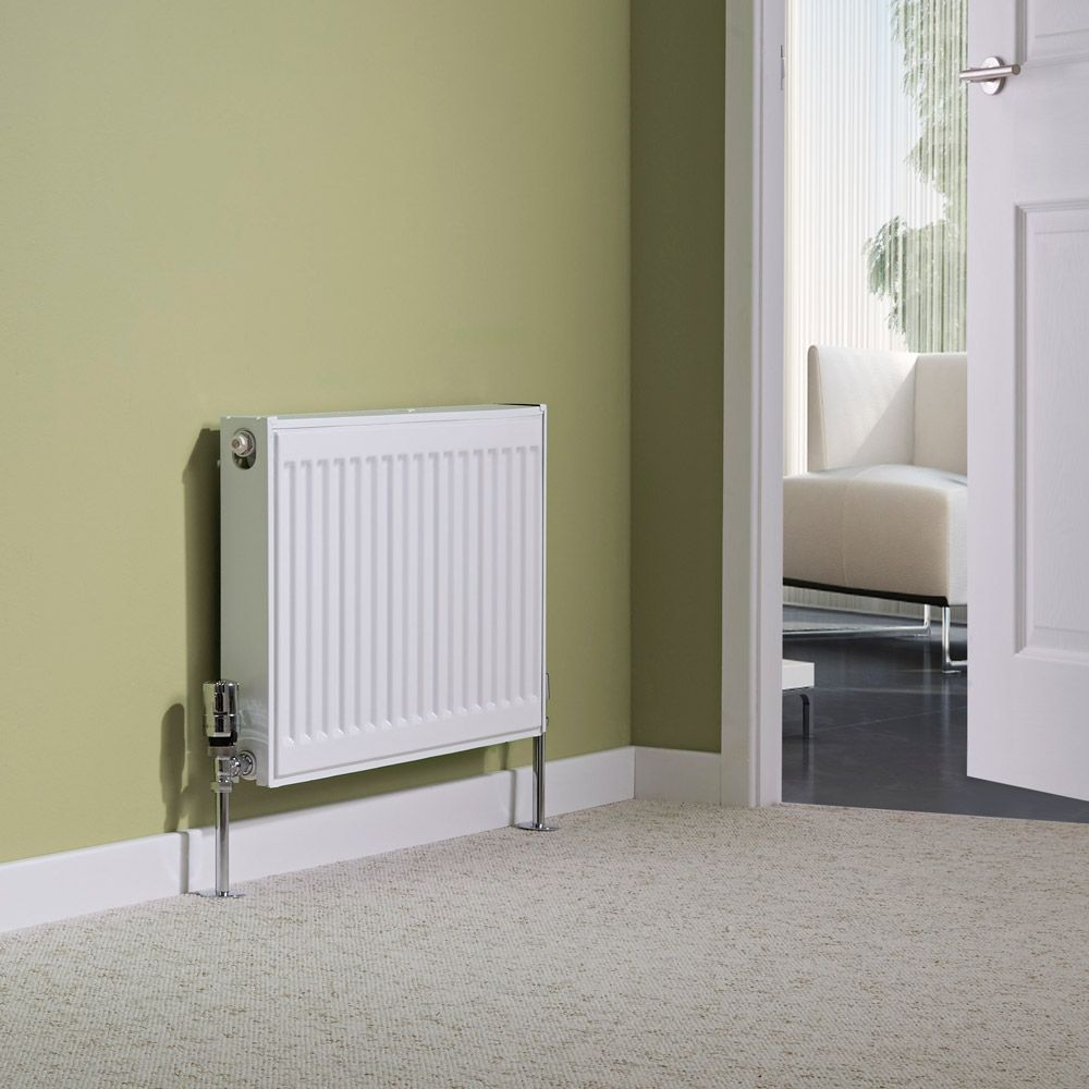 Single panel radiator on a wall in a lounge