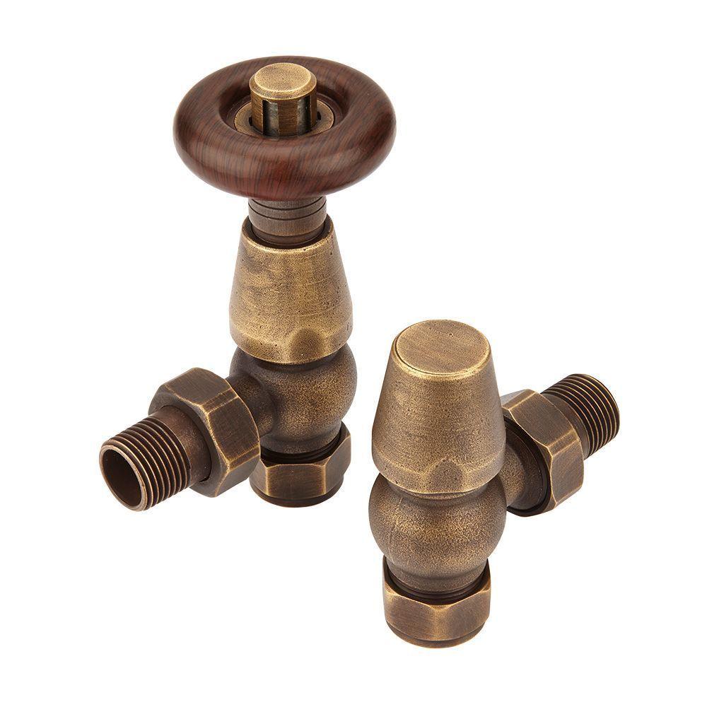 milano-bentley thermostatic radiator valve in bronze