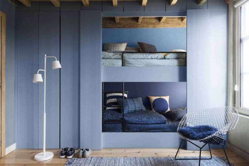 bedroom painted in denim drift dulux colour of the year