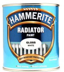 tin of white hammerite radiator paint