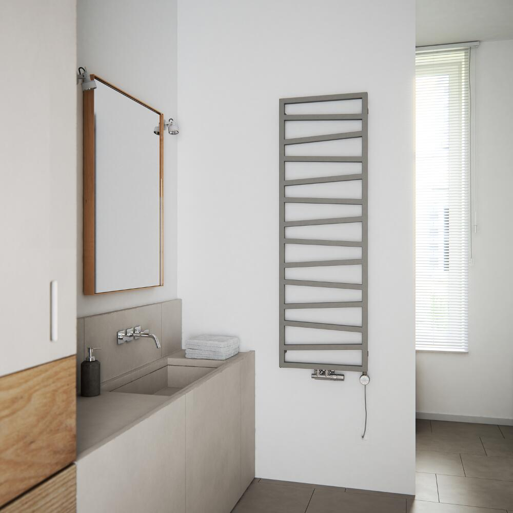 Terma ZigZag dual fuel heated towel rail