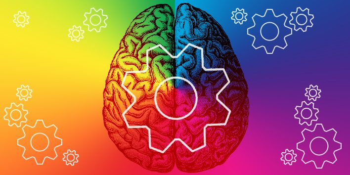 a picture of a brain showing the psychology of colour