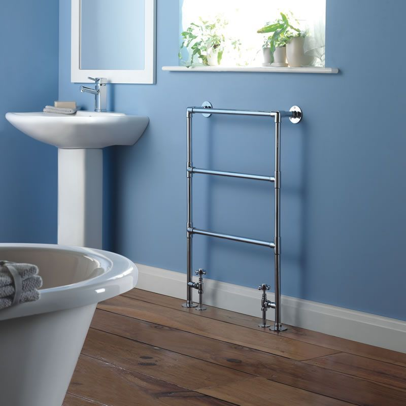 The Milano Derwent Traditional Heated Towel Rail at BestHeating.com