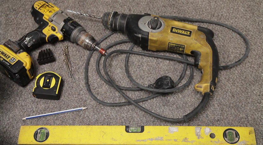 Image of tools on the floor