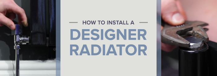 How to install a designer radiator blog banner