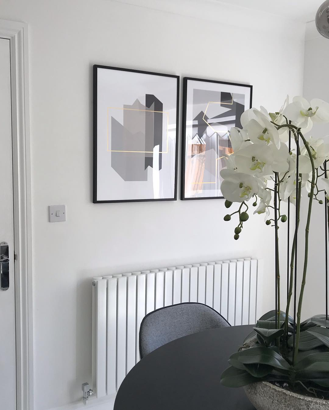 A modern Milano designer radiator