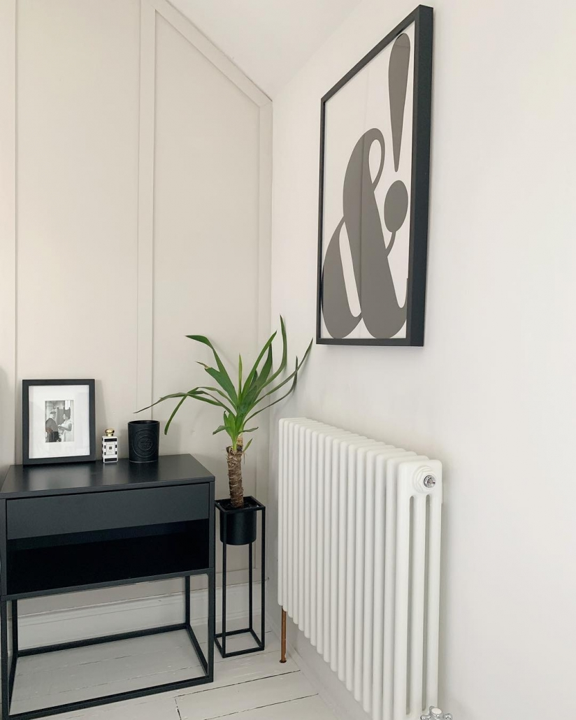 Milano Windsor column radiator on a white wall.