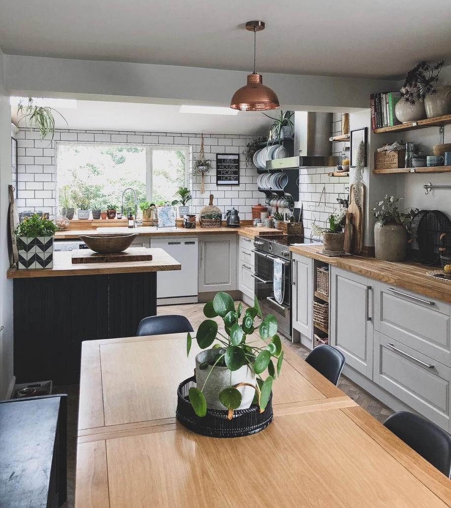 A modern white kitchen.
