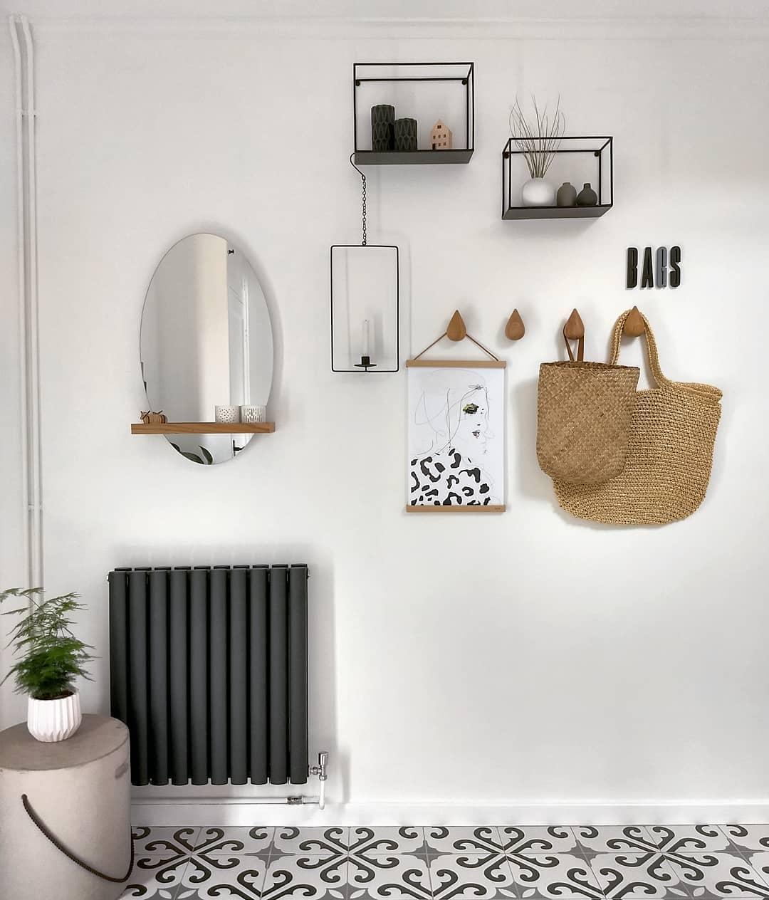 Milano Aruba designer radiator on a white wall.