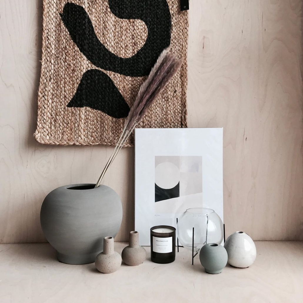 vase and orint from just maison