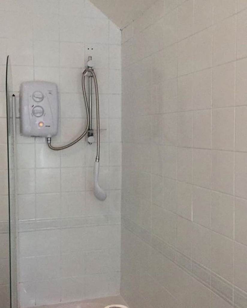 plain white shower