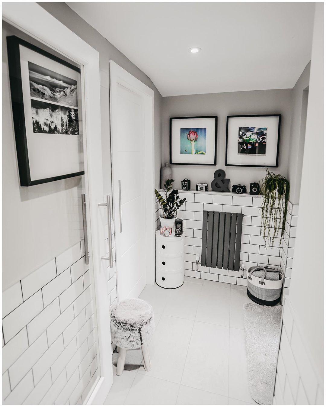 small Milano Capri radiator in a small hallway