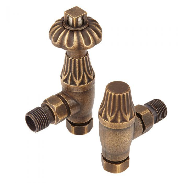 Pair of antique radiator valves