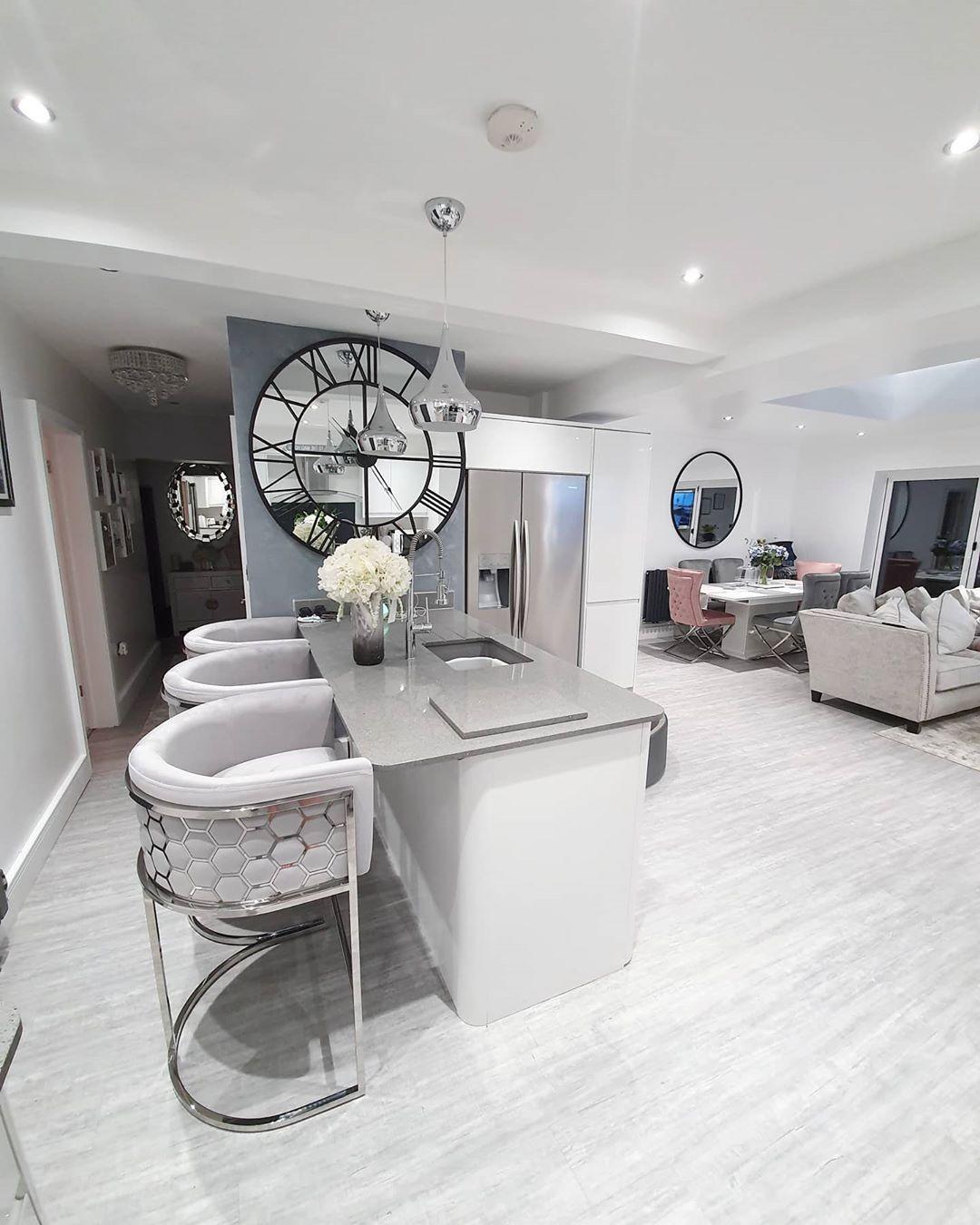 contemporary open plan living space