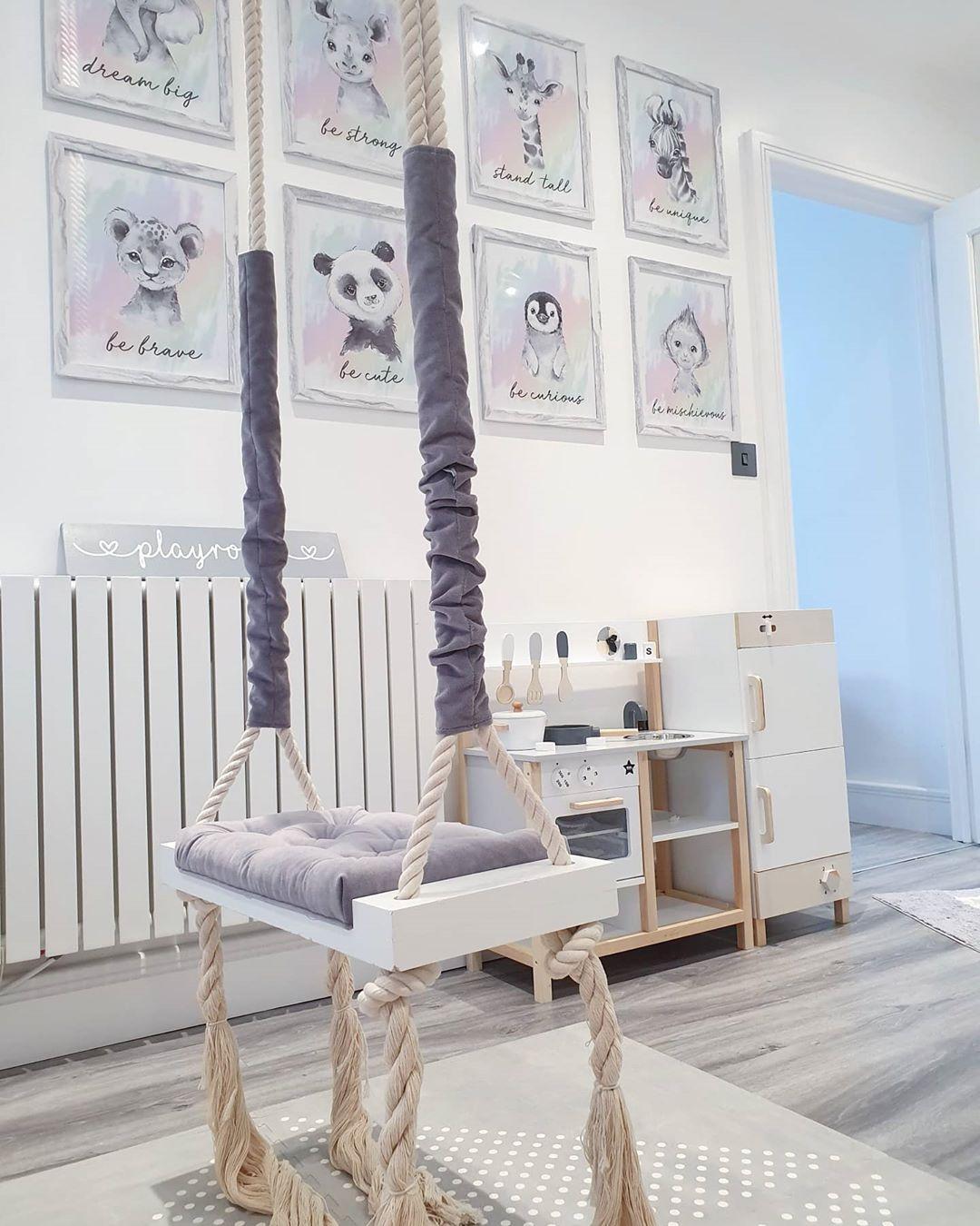 Milano Capri radiator in a white playroom
