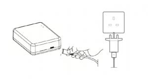 Milano Connect Wi-Fi Hub line drawing