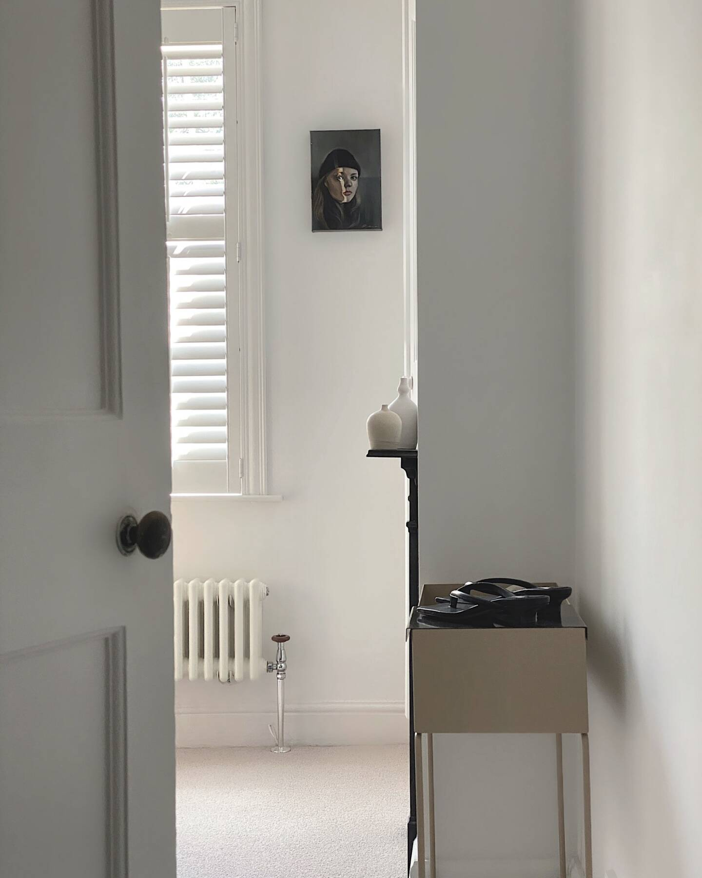 Donna's door opening revealing a Milano Windsor radiator