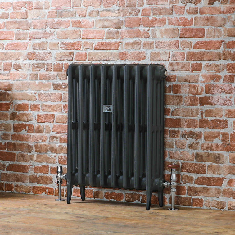 Milano Alice cast-iron radiator charcoal primer.