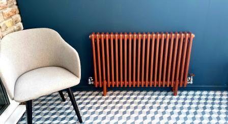 metallc copper Milano Windsor radiator
