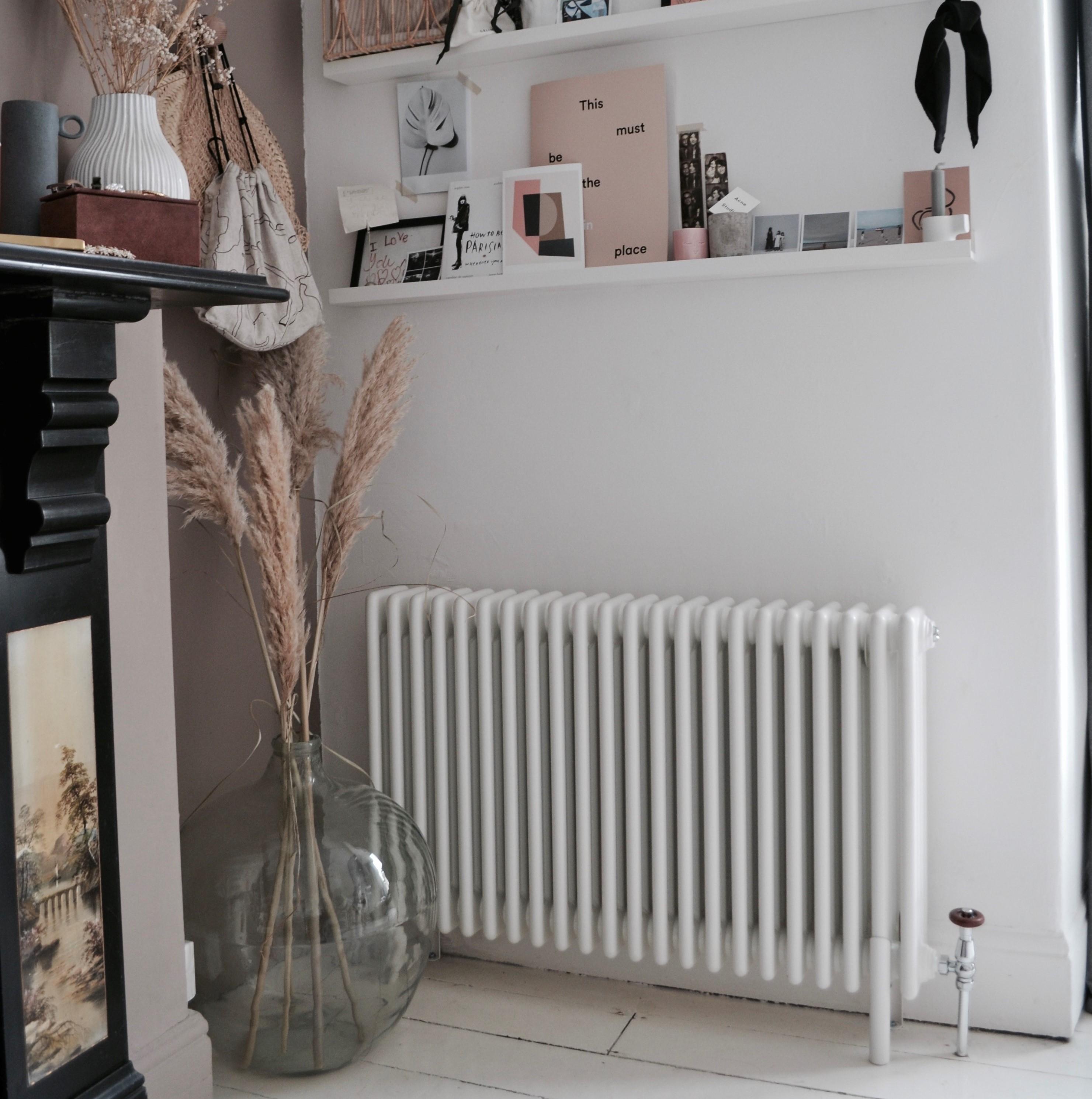 Milano Windsor column radiator on a white wall