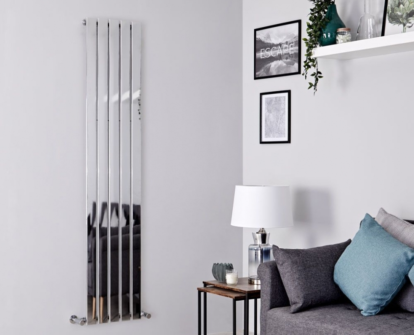 alpha chrome vertical radiator