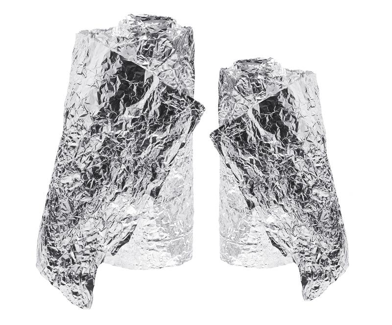 two rolls of aluminium foil