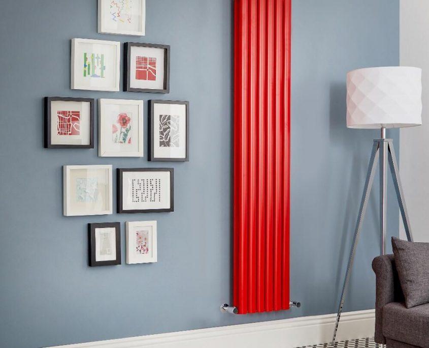 Milano Aruba red vertical radiator