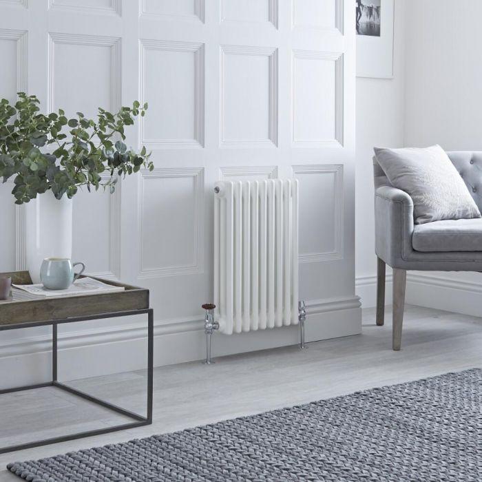 narrow milano windsor column radiator in a small room