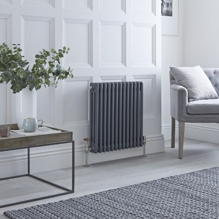 Milano Windsor classic column radiator in anthracite.