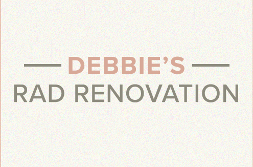 Debbie's rad renovation blog banner.