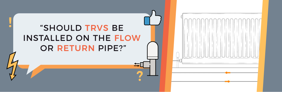 FAQ Header Image (Should TRVs be installed on the flow or return pipe?)