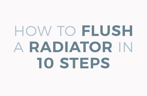 how to flush a radiator blog banner