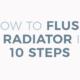 how to flush a radiator blog banner