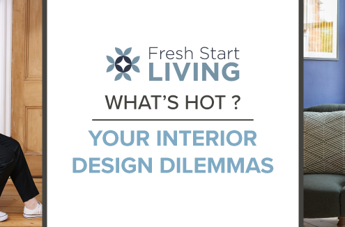 What's Hot Fresh Start Living? Interior design dilemmas blog banner