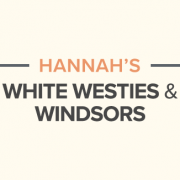 Hannah's white westies and windsors blog banner.