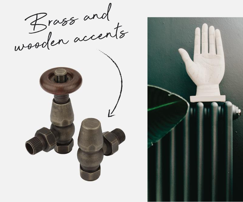 Milano Windsor bronze radiator valves