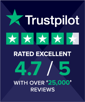 Trust Pilot - Over 25,000 reviews