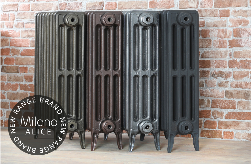 Milano Alice cast-iron radiators.