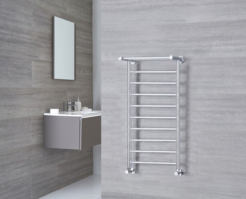 Milano Pendle chrome heated towel rail